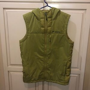 Columbia down fill hooded puffer vest
